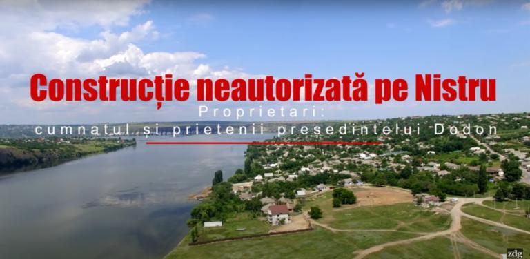 VIDEO// Construcție neautorizată pe Nistru. Proprietari: cumnatul și prietenii președintelui Dodon //ZDG